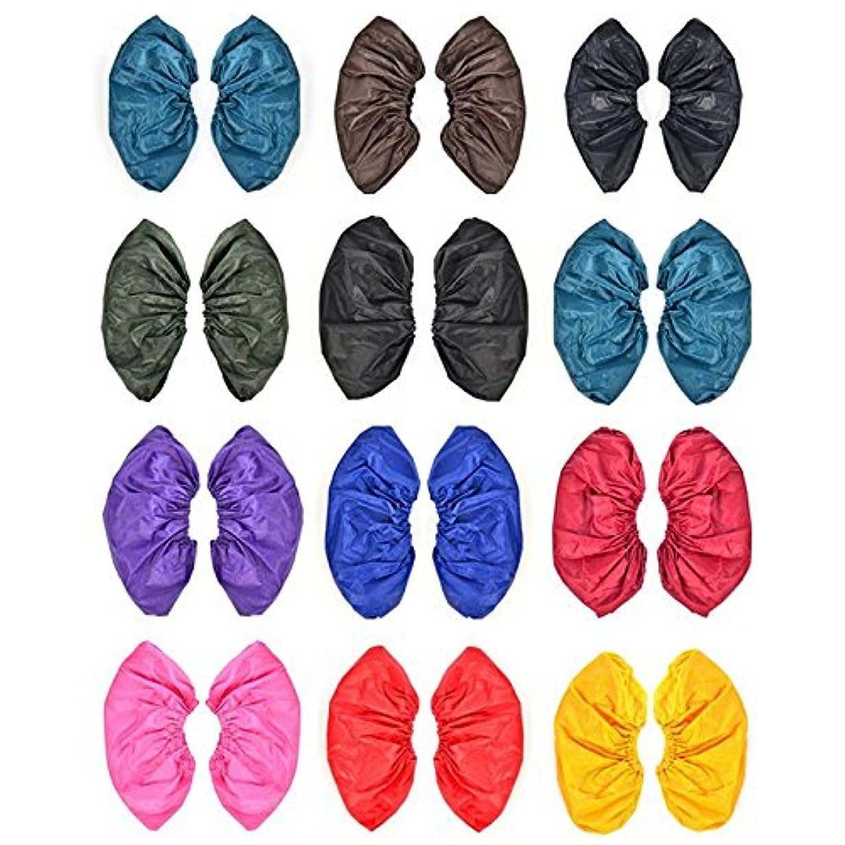 枕批判並外れたattachmenttou 雨靴カバー 再利用可能な防水雨の雪 ブーツは、耐熱PVC厚み付けソールの靴カバースリップ 男女