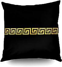 Capsceoll Halloween Greek Key Pattern Decorative Throw Pillow Case 20X20Inch,Home Decoration Pillowcase Zippered Pillow Co...