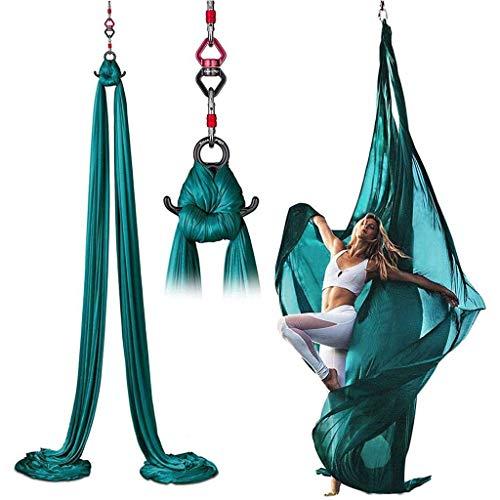 Find Bargain Aerial Yoga Hammock Set, Professional Aerial Silks Equipment for All Levels, Medium Str...