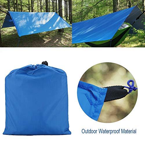 01 Lona de la Carpa, Carpa de la Lona Que acampa, Lona Impermeable de la Lluvia Lona de la Mosca Carpa del Refugio Lona de la Lluvia para Acampar(Blue)