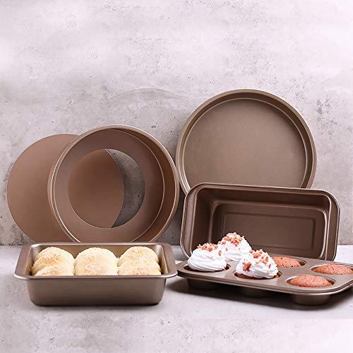 moulle à gâteau carré,moule cuit à la main, acier au carbone, accessoires de four ménager, ensemble d'outils de cuisson bricolage essentiel (5 pièces)
