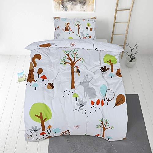 VITAPUR Juego de sábanas niños - 100% algodón orgánico - Ambiente seco y Fresco para Dormir Piel Sensible (50x70, 140x200)