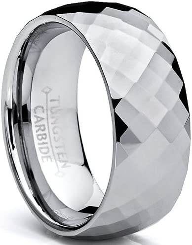 Metal Masters Co 8MM Men s Multi Faceted Tungsten Carbide Ring Size 10 product image