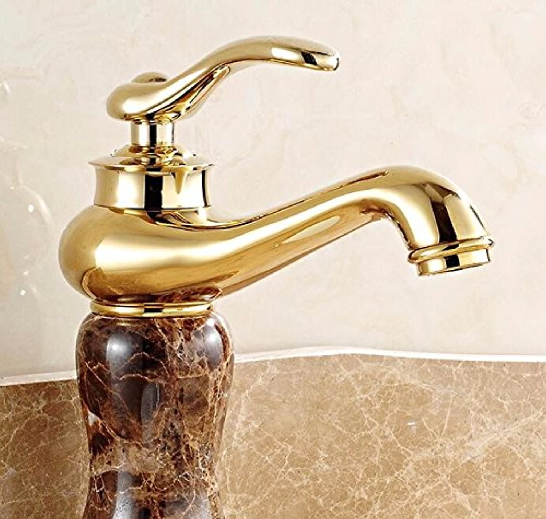 Bijjaladeva Antique Bathroom Sink Vessel Faucet Basin Mixer Tap The copper basin faucet hot and cold wash basin mixer lowered basin marble green jade gold faucet C