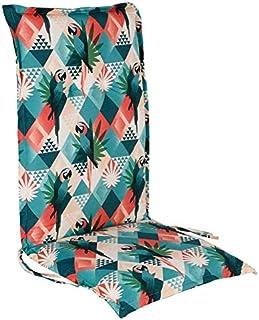 Spetebo Coussin facile d'entretien pour fauteuil à dossier haut – Multicolore – Coussin de chaise de jardin avec sangle de...