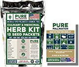 Pure Pollination's Herb Seed Variety Kit - 12 Unique Strains - Spice up your Garden - 100% Heirloom & Non GMO