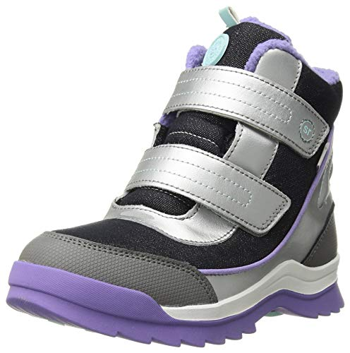 Stride Rite Girl's Made2Play Everest Snow Boot, Silver, 3 W US Little Kid
