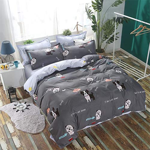 CYGJ CYGJThree-piece or four-piece set of fashionable bedding with zippers puppyFour-piece 2.0-meter bed