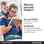 Netgear nighthawk cable modem cm1200 - compatible with all cable providers| for cable plans up to 2 gigabits | 4 x 1g… 8 compatible with xfinity internet & voice service: certified by comcast for xfinity. Not compatible with verizon, at&t, centurylink, dsl providers, directv, dish and non xfinity voice services save monthly rental fees: model cm1150v replaces your cable modem saving you up to $150/yr in equipment rental fees built for ultimate speed: best for cable provider plans up to 2 gigabits speed