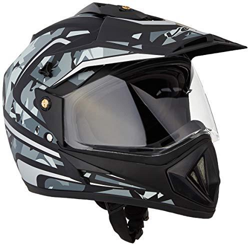 Off Road D/V Camo Dull Black Silver Helmet-M