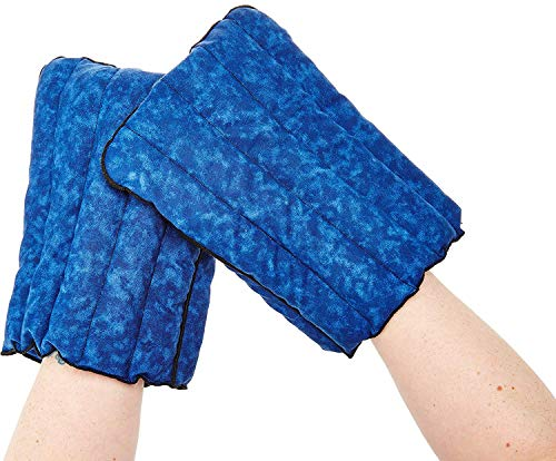 Kozy Collar Microwavable Heating Mittens for Hand and Fingers to Relieve Arthritis, Pains and Soreness – Natural, Safe and Reusable … (Extra Large, Blue)