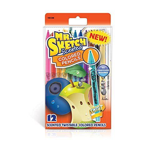 Mr. Sketch Scented Twistable Colored Pencils, Assorted Colors, 12 Count