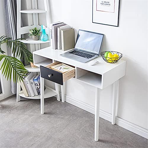 Escritorio de Oficina, Mesa para Ordenador, 90 * 42 * 78cm, Tablero de partículas, con cajón