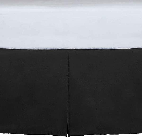 定制婴儿床防尘褶边 15 英寸长黑色