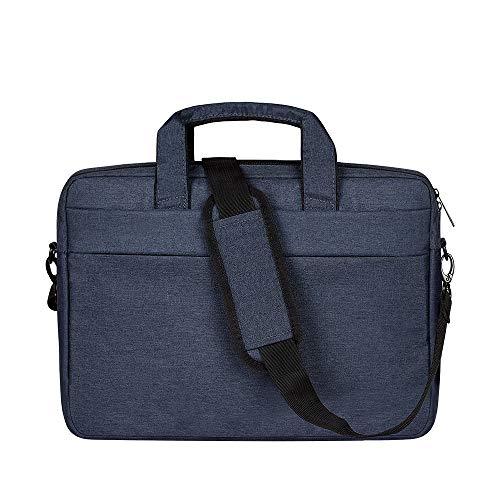 BAKUN Laptop-/Tablet-Hülle für 39,6 cm (15,6 Zoll), Aktentasche, Schultertasche, Kuriertasche, wasserabweisend, für Laptop, Tablet, Business, Uni, Herren/Damen (Marineblau)
