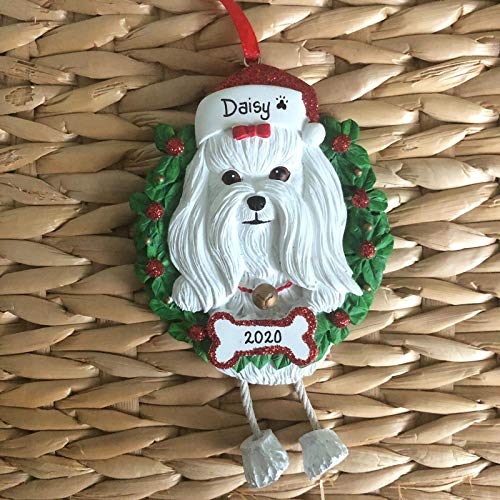 Personalised Christmas Bauble Decoration - Maltese Ornament