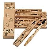Boston Tech BioWhite 12 Cepillos dentales blanqueadores de Bambú puro Biodegradable. Recomendados...