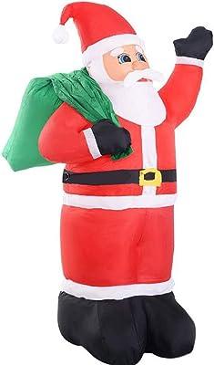SSBH Papá Noel Mochila Trasera Modelo Inflable Decoración navideña ...