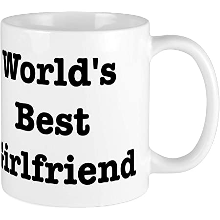 Cafepress Worlds Best Girlfriend Large Mug Coffee Mug Large 15 Oz White Coffee Cup Kitchen Dining