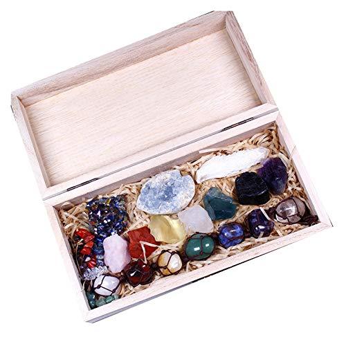W.Z.H.H.H Cristal áspero Cristal Natural Siete Terapia DE Piedra Energía cruda Piedra Cristal de Cristal Cumplimiento de la colección de Regalo estándar Cristales de curación