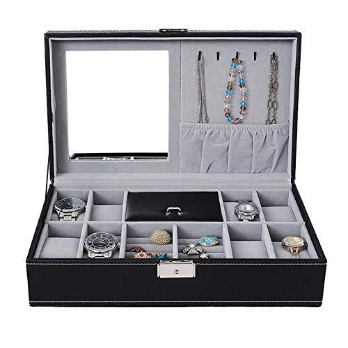 Yodio Joyero Joyero Organizador Anillo Organizador Caja 8+2 Caja de almacenamiento de joyería para pendientes, brazalete pulsera collar y anillos de almacenamiento ()