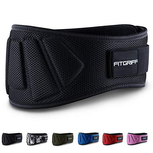 Protezione schiena-con la fitgriff Weight Lifting Belt ti consente un affidabile prodotto di marca per il body building. La cintura schiena offre protezione di qualità & stabilità TOP per parte inferiore della schiena. Irrinunciabile in caso di gra...