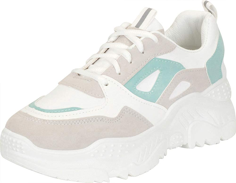 Cambridge Select Women's Retro 90s Dad Popular standard Nippon regular agency Ugly Lace-Up Colorblock C