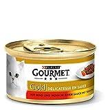 Purina GOURMET Gold Katzenfutter Delicatesse in Sauce, 12 Dosen (12 x 85 g)