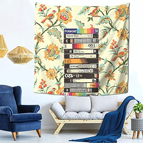 Jasongamo VHS & Entry Hall Wallpaper Tapestry Wall Hanging, Living Room Bedroom Dormitory Decoration 59x59 Inch