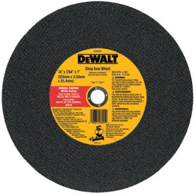 Dewalt Accessories DW8001 Chop Saw Wheel, Metal, 14-In. - Quantity 10