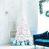 C-Chain 7.5FT White Hinged Artificial Christmas Tree Pine Xmas Tree...