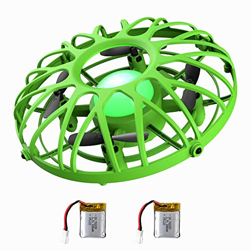UFO Flying Ball Drone for Kids, EACHINE E111 Hand Operated Induction Levitation UFO Mini Drone Easy Play Indoor and Outdoor Scoot Hover Drone Helicopter Toy for Boys and Girls (Green)