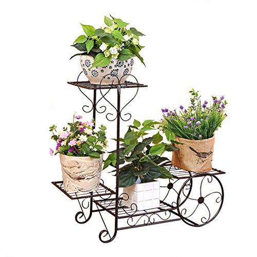 CJH Européen - Style fleur fer forgé à plusieurs étages plancher de style fleur Balcon de style vert radis salon fleur Racks