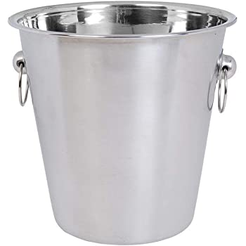 Godskitchen - bar020-13 Champagne Bucket Ice Bucket Stainless Steel Wine Cooler - 21 x 21cm (4 Litre)