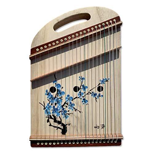 Guzheng Finger Trainer, tragbare Mini-Gu Zheng mit vollen Zusätzen, Rucksack, 21 Streicher, Geeignet for Erwachsene, Anfänger, Profi, Kinder, 50 * 33 cm (Color : B, Size : 50 * 33 cm)