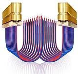 ZUZGO Laserdiode Lasermodul 5V Laser Diode Mini Laserdiodenmodul Rot 5mW 650nm(20 Stück)