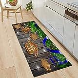 OPLJ Alfombra de Puerta de Cocina de Grano de Madera Moderna Alfombra de Sala de Estar Antideslizante Alfombra de Pasillo de Entrada de casa de baño Alfombra se Puede Lavar Alfombra A7 40x120cm