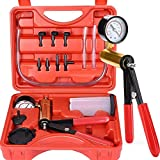 Thorstone Brake Bleeder Kit with Hand Held Vacuum Pump Tester | 16pcs Brake Clutch Bleeder Tool with Adapters for Car&Kitchen Uses | One-Man Brake Bleeding System Apply to Bike, Motorcycle, Car, Truck