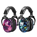 ZOHAN Kids Ear Protection 2 Pack, Hearing Protection Safety Ear Muffs for Children Have Sensory Issues, Adjustable Noise Reduction Earmuffs for Concerts, Fireworks (Nebula&Rap)
