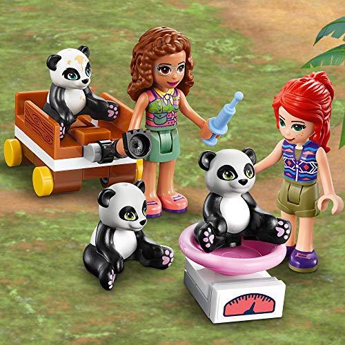 LEGO 41422 Friends Panda Jungle Tree House Playground Set with Olivia & Animals Figures, Jungle Rescue Series