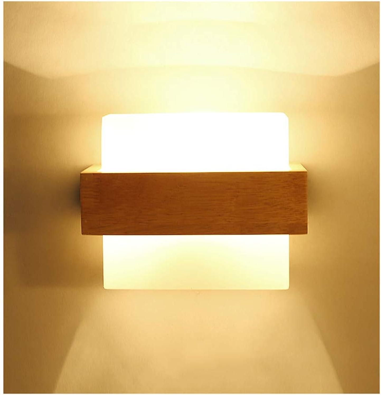 Wandleuchte lampe Wandleuchte E27 Holz Glas Wohnzimmer Schlafzimmer Studie Gang Cafe Wandleuchte