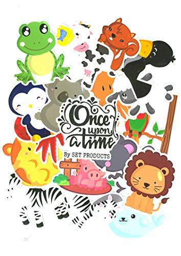 Top Aufkleber ! ⭐ Set von 69 Tieren Aufkleber Premium Qualität - Vinyls Stickers Nicht Vulgär von Tier – Fashion, Bomb, Grafitti, Cool - Anpassung Laptop, Gepäck, Moto, Fahrrad, (#69-TIEREN)