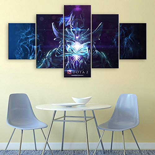 ADGUH 5BilderLeinwan5 Stück Dota 2 Spiel Poster Leinwand gedruckt Wandkunst Phantom Assassin Bilder dekorative Malerei e Kunstwerk Wanddekoration5 Drucke auf Leinwand