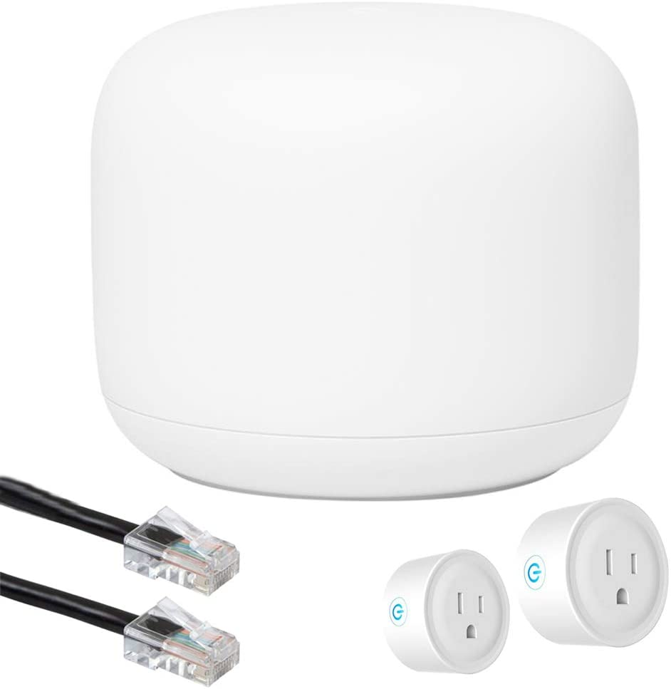 Google Nest Wi-Fi Router - with GA00595-US 1-Pack Fresno Mall WiFi Discount mail order 2-Pack