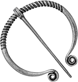 kesoto Viking Penannular Brooch, Clothes Fasteners Leg Wrap Buckle Clasp Pin Badge For Cloak Shawl Scarf Clip, Norse Amulet Jewelry - Antique Bronze