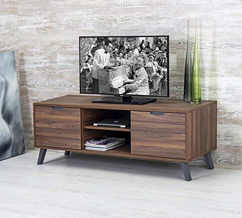 Design Twist Jack Porta TV, Melaminico, Noce, 154 x 50.1 x 56.1 cm