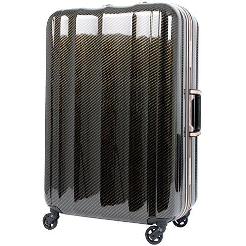 [レジェンドウォーカー] スーツケース フレーム LIGHTNING-NEO 軽量 ポケット付き中仕切り T6702-70 保証付 90L 76 cm 4.3kg カーボン