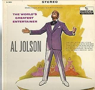 Al Jolson: The World's Greatest Entertainer LP NM/VG++ Canada MCA 2067