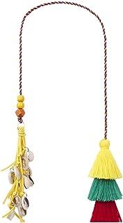 Loveliome Colorful Tassel Ornaments, Boho Style Purse Handbag Backpack Keychian Car Curtain Hanging Decor