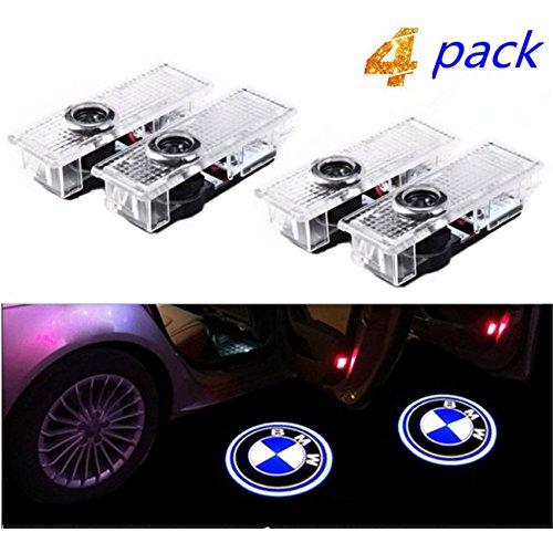 Luces de la puerta del coche de 4 piezas Iluminación de la entrada de la luz del coche LED 3D Luz de la lámpara del logotipo del proyector de bienvenida